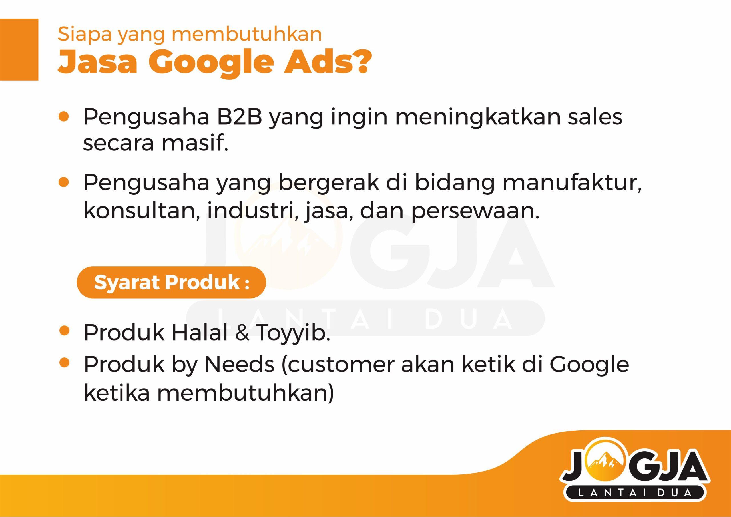 Jasa pasang google ads